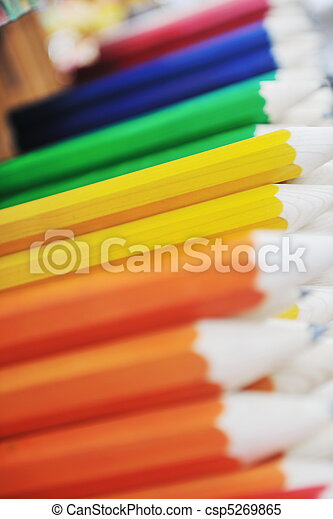 wooden colored pencil - csp5269865