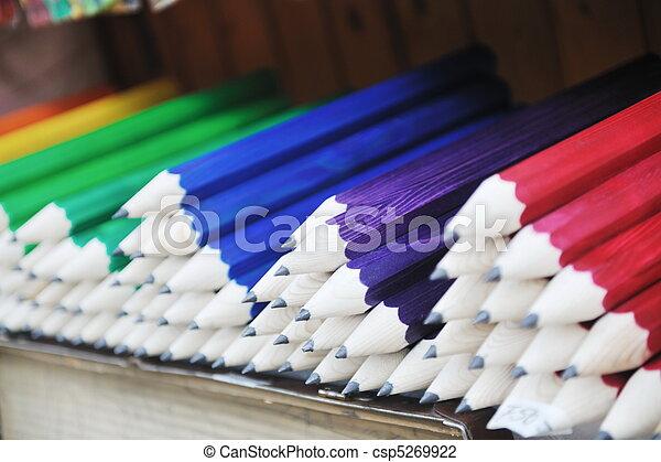 wooden colored pencil - csp5269922