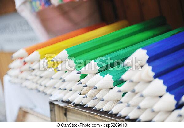 wooden colored pencil - csp5269910