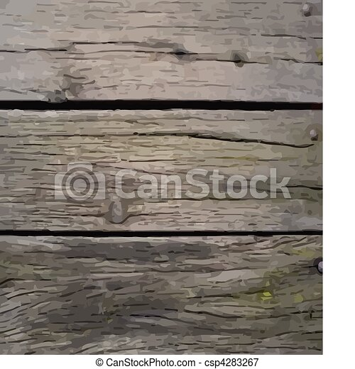 wooden crate - vector - csp4283267