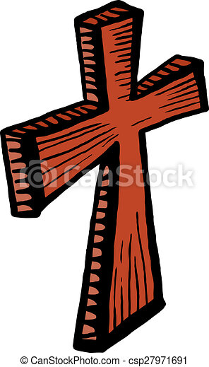 wooden cross clip art a cartoon doodle drawing of a wooden cross rh canstockphoto com wooden cross clip art free wooden cross clip art with a nail in it