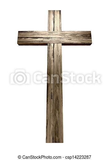 Wooden Crucifix - csp14223287