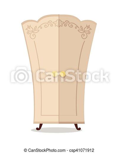 Wooden Cupboard Closeup - csp41071912