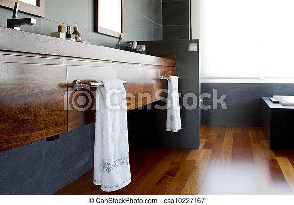 Wooden details in bathroom - csp10227167