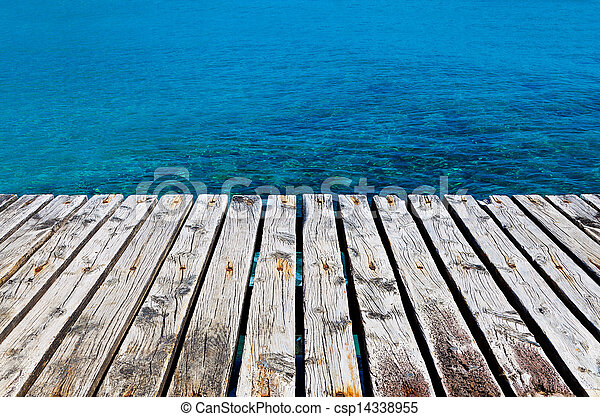 Wooden Dock Besides the Sea - csp14338955