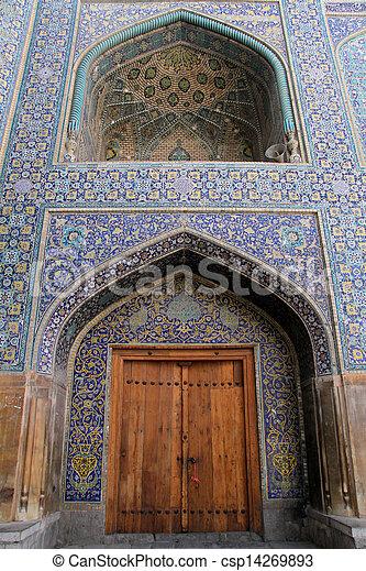 Wooden door and wall - csp14269893