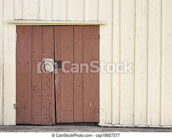 wooden door background - csp18927377