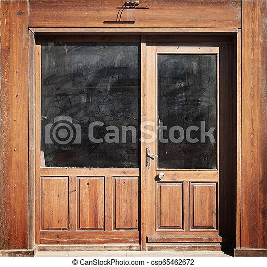 Wooden Door Background - csp65462672