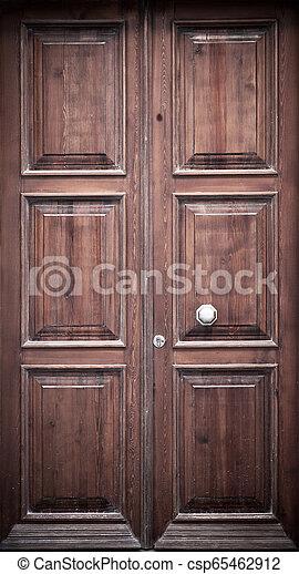Wooden Door Background - csp65462912