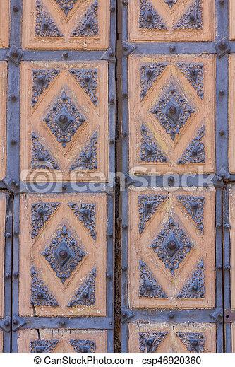 Wooden door background - csp46920360