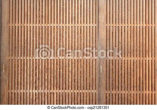 wooden door background - csp21281351
