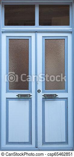 Wooden Door Background - csp65462851
