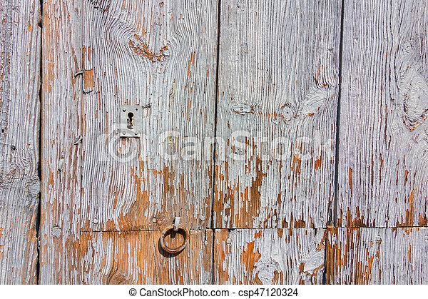 Wooden door background - csp47120324