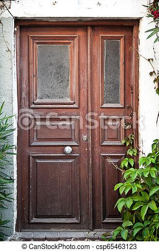 Wooden Door Background - csp65463123