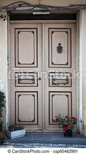 Wooden Door Background - csp65462991