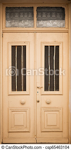 Wooden Door Background - csp65463104