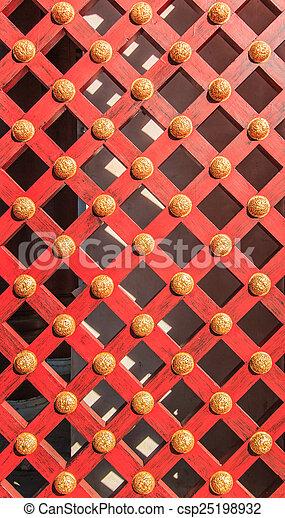 Wooden door background - csp25198932
