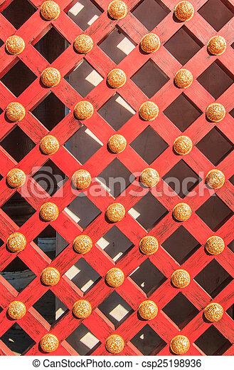 Wooden door background - csp25198936