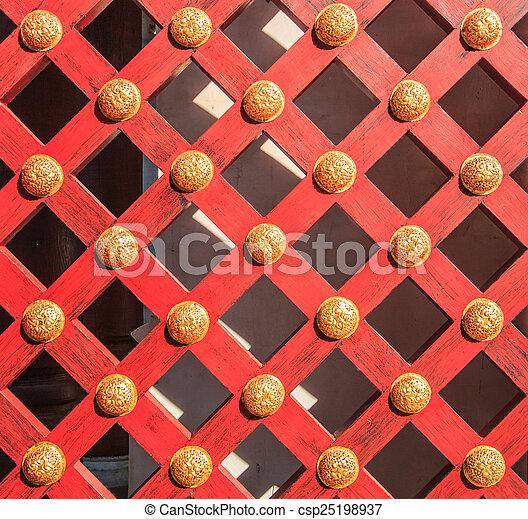 Wooden door background - csp25198937
