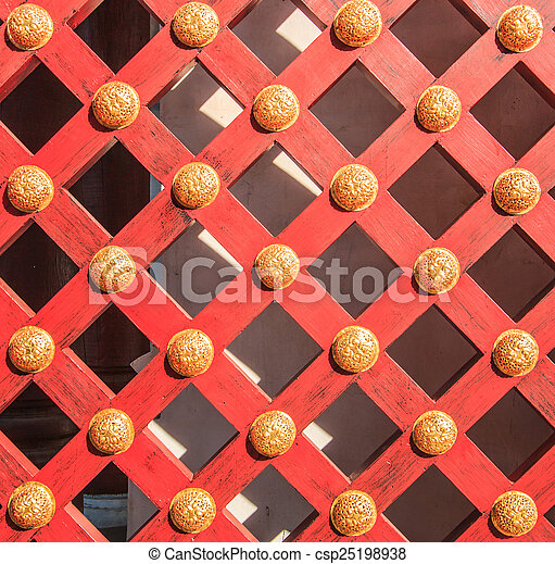 Wooden door background - csp25198938