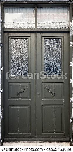 Wooden Door Background - csp65463039