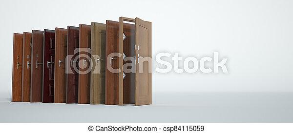 Wooden Door choice - csp84115059