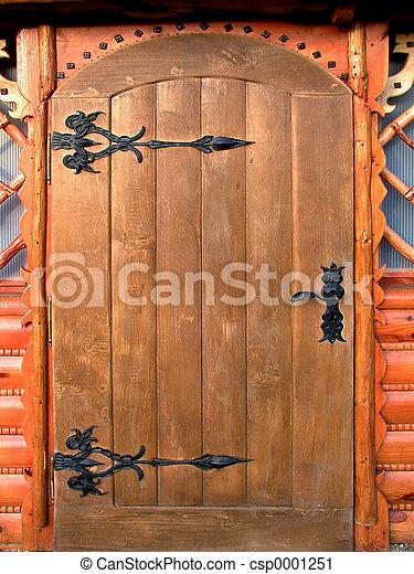 Wooden Door - csp0001251