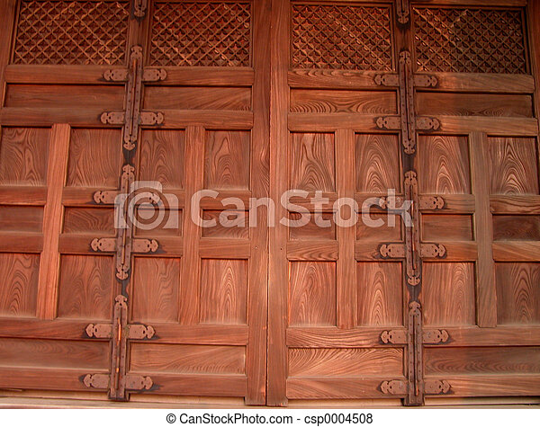 Wooden door - csp0004508