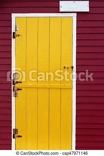 Wooden Door - csp47971146