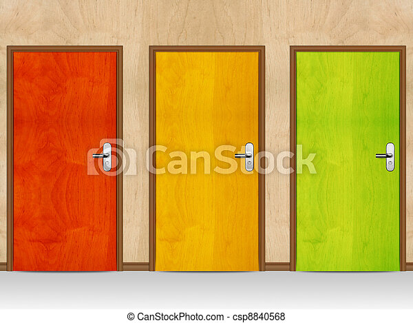 wooden doors - csp8840568