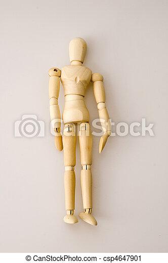 Wooden Dummy - csp4647901