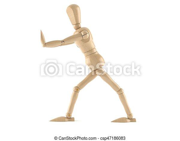 Wooden dummy - csp47186083