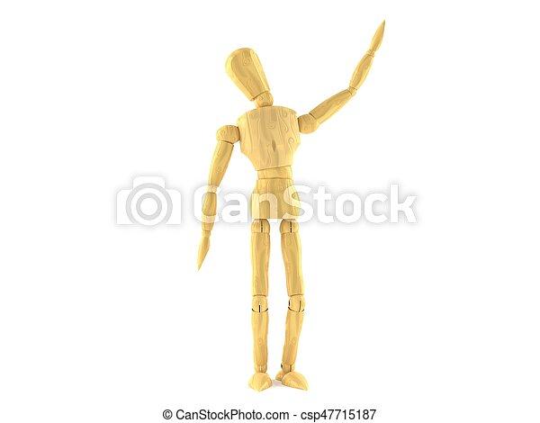 Wooden dummy - csp47715187