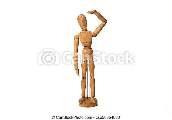 wooden dummy - csp58354880