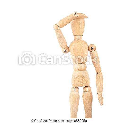 Wooden dummy - csp10859250