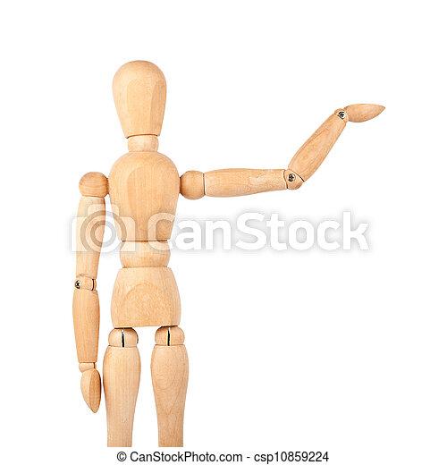 Wooden dummy - csp10859224