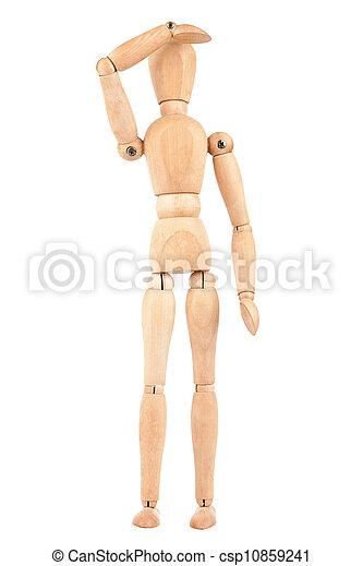 Wooden dummy - csp10859241