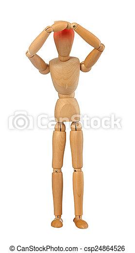 Wooden dummy - csp24864526