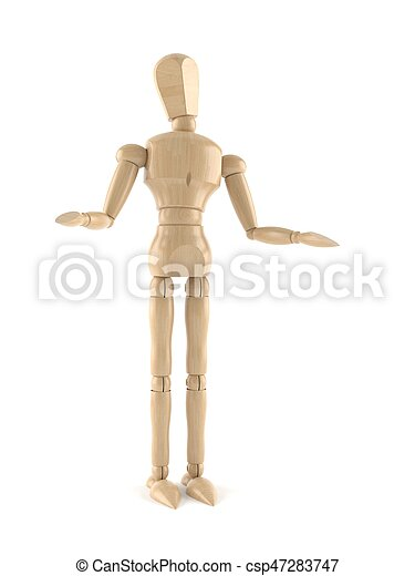 Wooden dummy - csp47283747