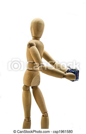 Wooden dummy - csp1961580