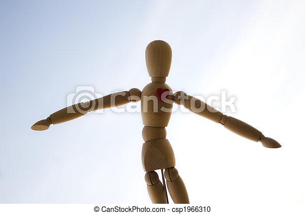 Wooden dummy - csp1966310