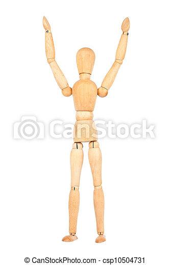Wooden dummy - csp10504731