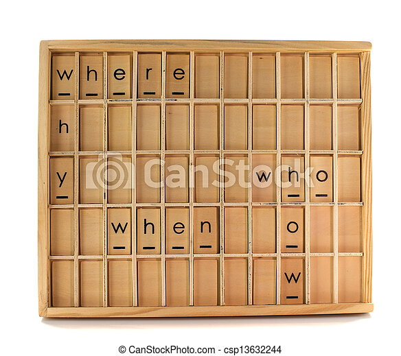 wooden education board - csp13632244
