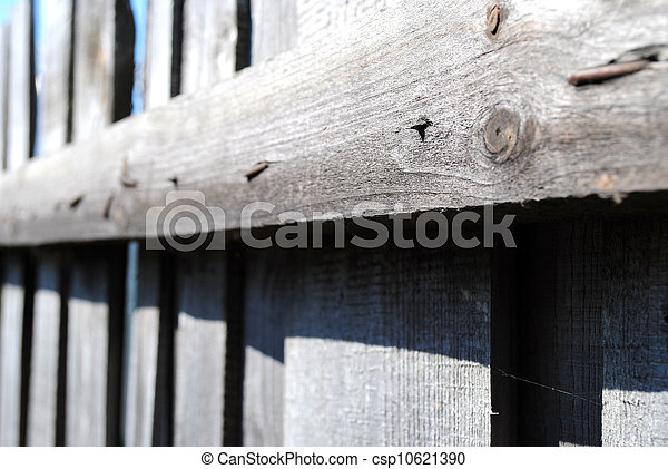 Wooden fence close-up - csp10621390