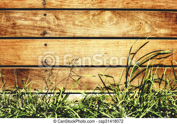 wooden fence - csp31418072