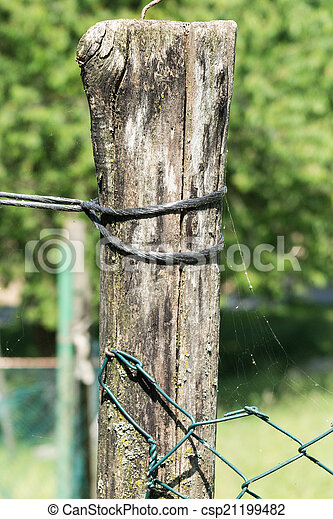 wooden fence - csp21199482