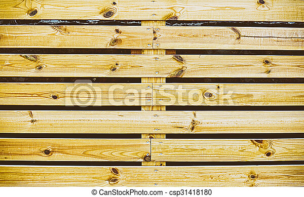 wooden fence - csp31418180