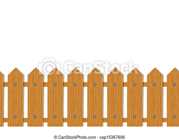 Wooden fence seamless pattern for your design vector clipart