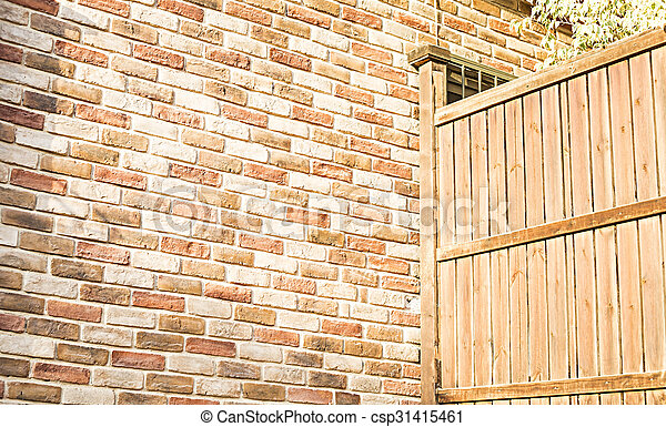 wooden fence - csp31415461