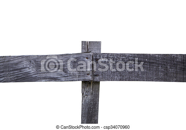 Wooden fence - csp34070960